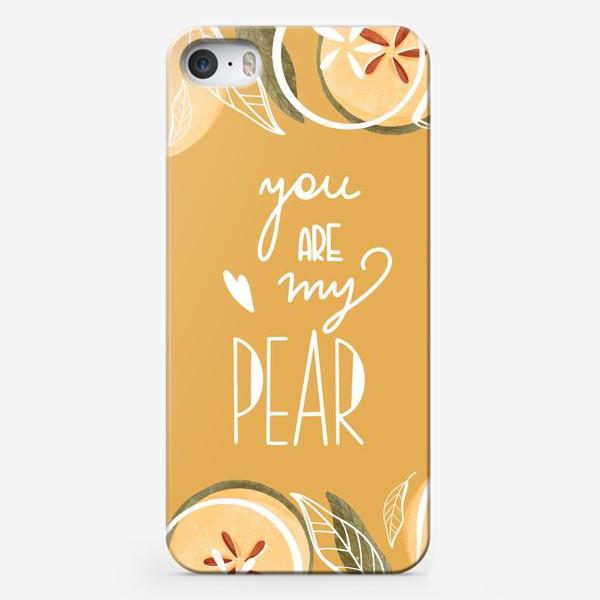 Чехол iPhone «Ты моя груша»
