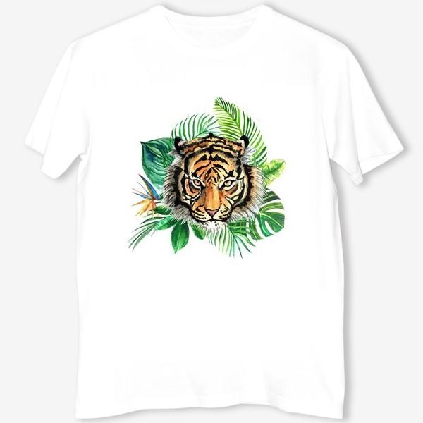 Футболка «Тигр в тропиках»