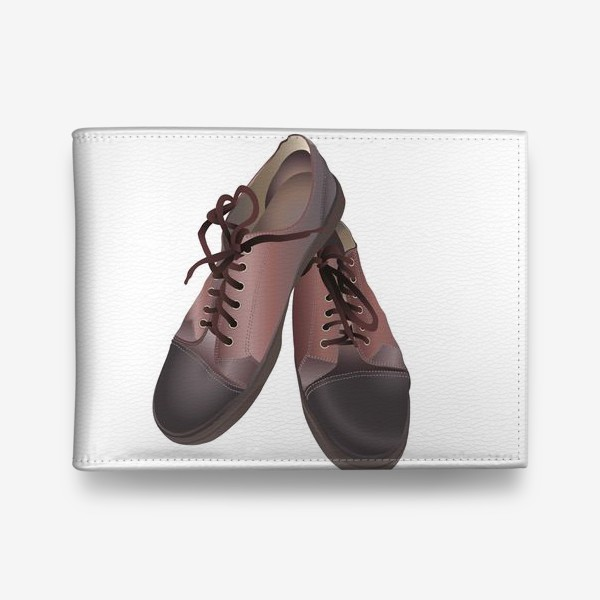 Кошелек «Brown leather sneakers pattern in vector clip art»