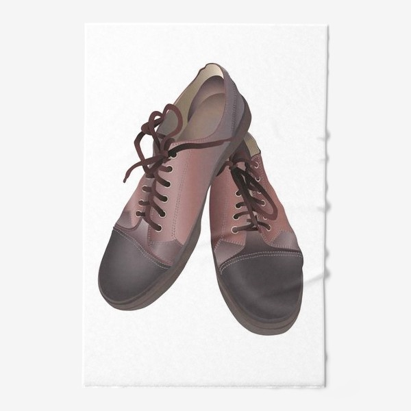Полотенце «Brown leather sneakers pattern in vector clip art»