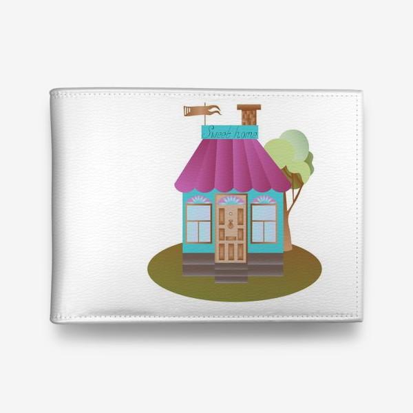 Кошелек «Cute house vector graphic»