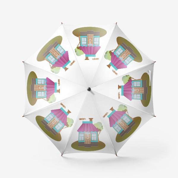 Зонт «Cute house vector graphic»