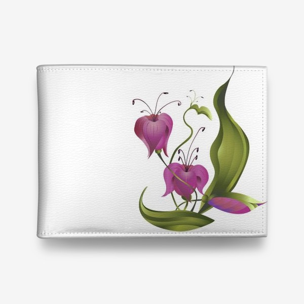 Кошелек «Весенние розовые цветы »