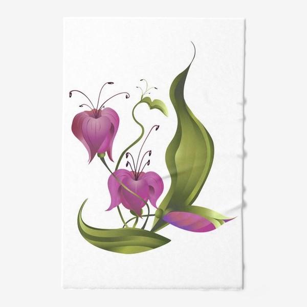 Полотенце «Весенние розовые цветы »