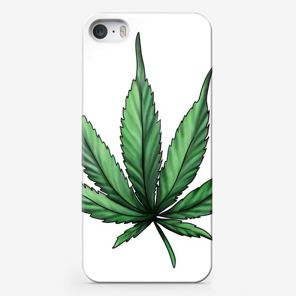 Чехол iPhone «Лист конопли. Зеленый канабис. Растафарианский символ »