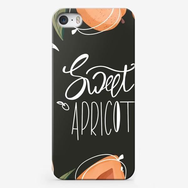 Чехол iPhone «Сладкий абрикос надпись»