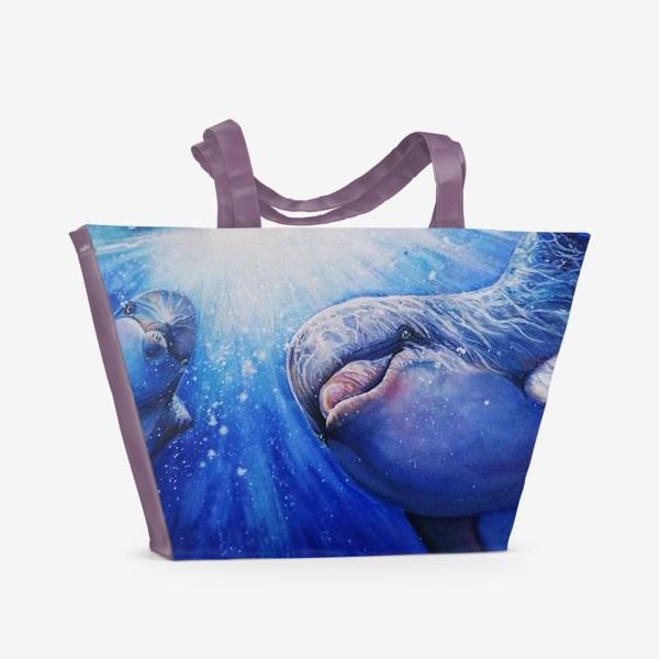 Пляжная сумка «лазурное утро»