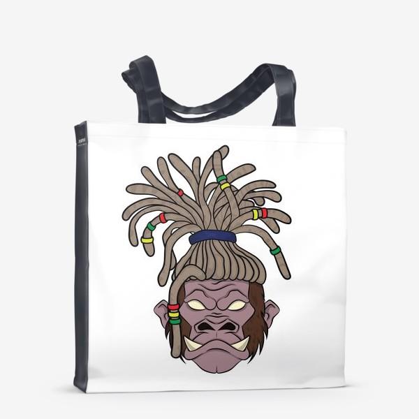 Сумка-шоппер «горилла с дредами»