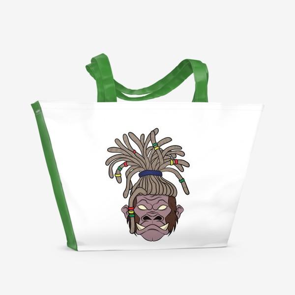Пляжная сумка «горилла с дредами»