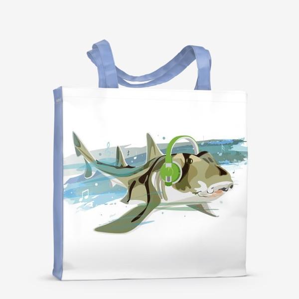 Сумка-шоппер «Акула и музыка. Австралийская рогатая акула.»