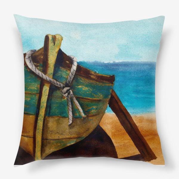 Подушка «Старая рыбацкая лодка»
