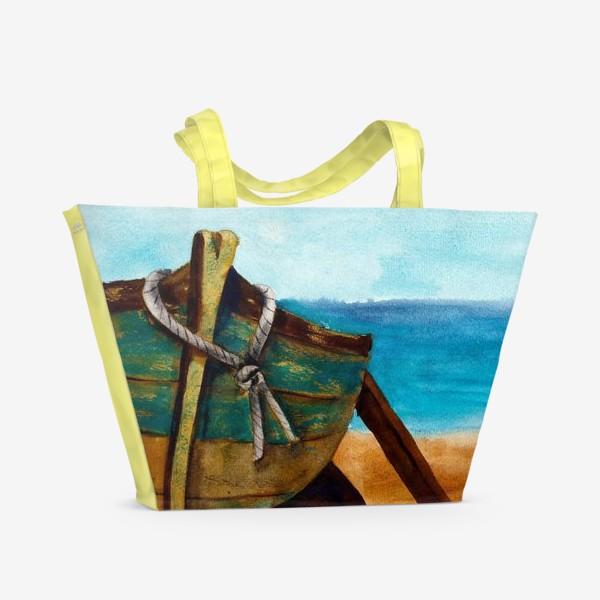 Пляжная сумка «Старая рыбацкая лодка»