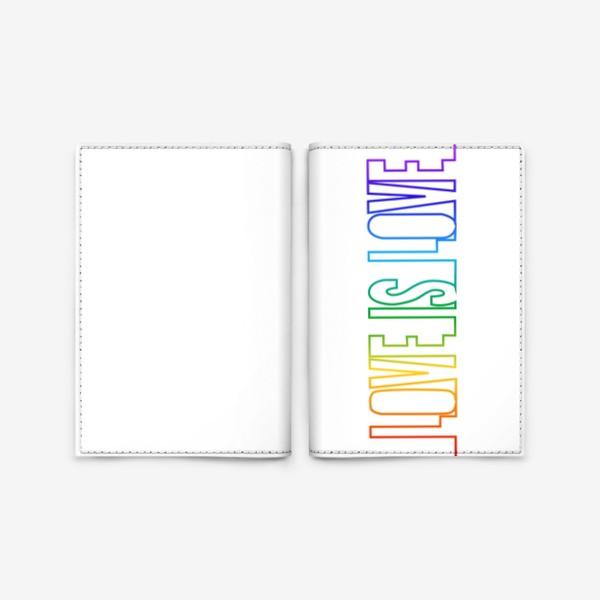 Обложка для паспорта «Любовь это любовь, радуга, непрерывная надпись»