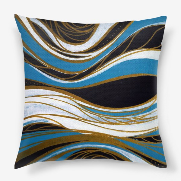 Подушка «Золотые линии»