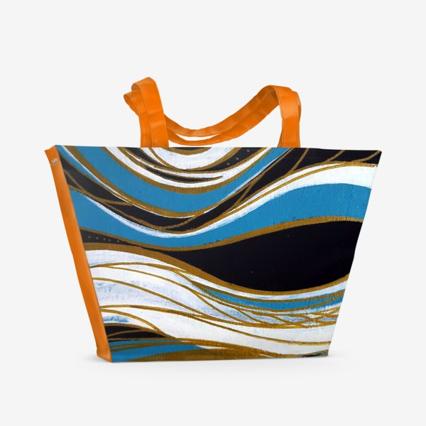 Пляжная сумка «Золотые линии»