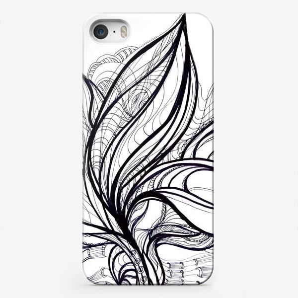 Чехол iPhone «Черно белая графика»