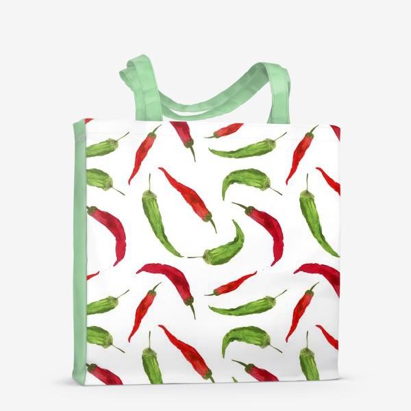 Сумка-шоппер «Красные и зеленые  перцы»
