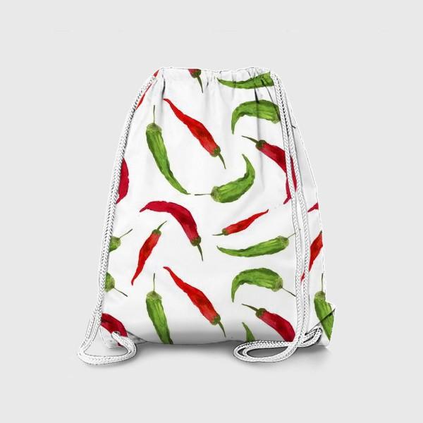 Рюкзак «Красные и зеленые  перцы»