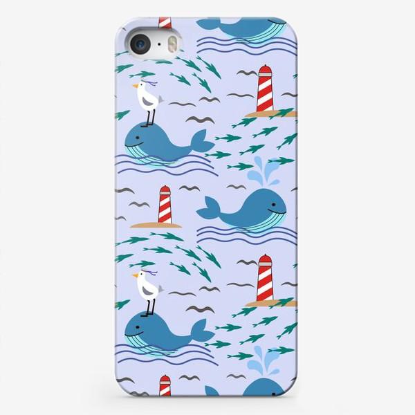 Чехол iPhone «Киты и чайки»
