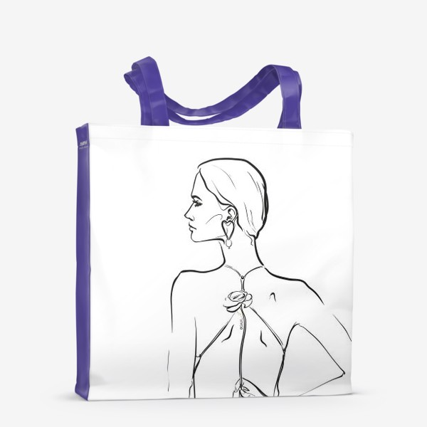 Сумка-шоппер «девушка с цветком»