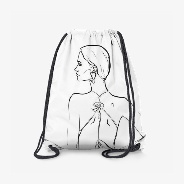 Рюкзак «девушка с цветком»