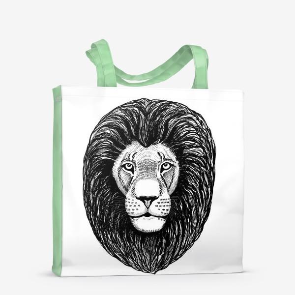 Сумка-шоппер «Лев графика»