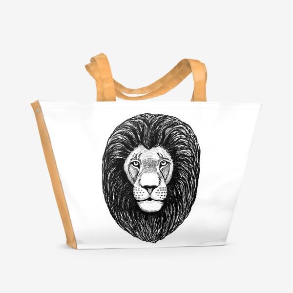 Пляжная сумка «Лев графика»
