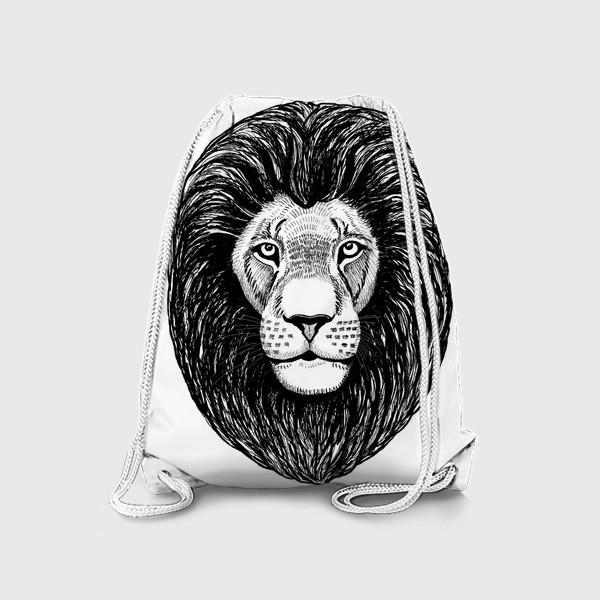 Рюкзак «Лев графика»