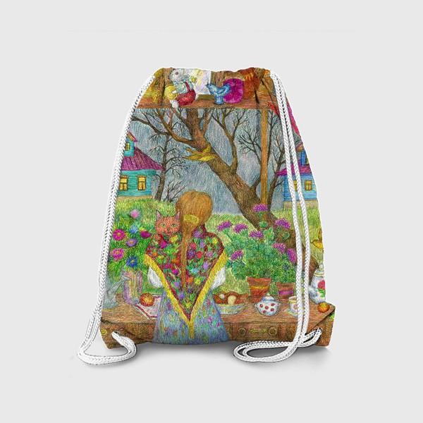 Рюкзак «Сумерки. Деревенский пейзаж»