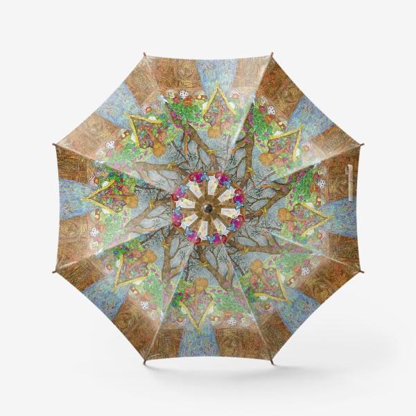 Зонт «Сумерки. Деревенский пейзаж»