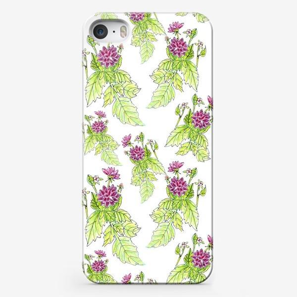 Чехол iPhone «Георгиновый паттерн»