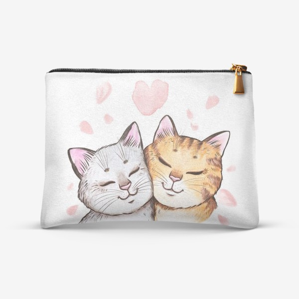 Косметичка «Кошки и сакура»