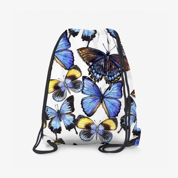 Рюкзак «Цветные акварельные бабочки»