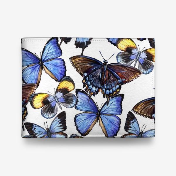 Кошелек «Цветные акварельные бабочки»