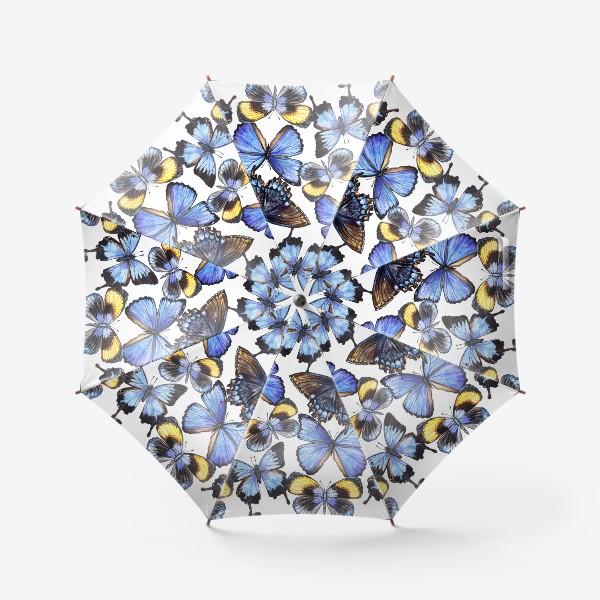 Зонт «Цветные акварельные бабочки»