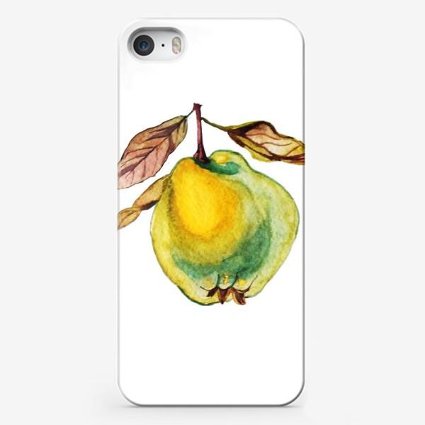 Чехол iPhone «Груша акварель»