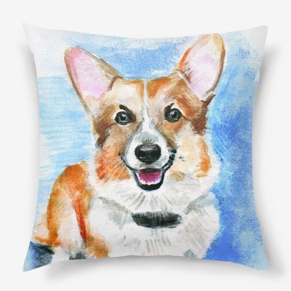 Подушка «Королевская собачка вельш-корги пемброк»