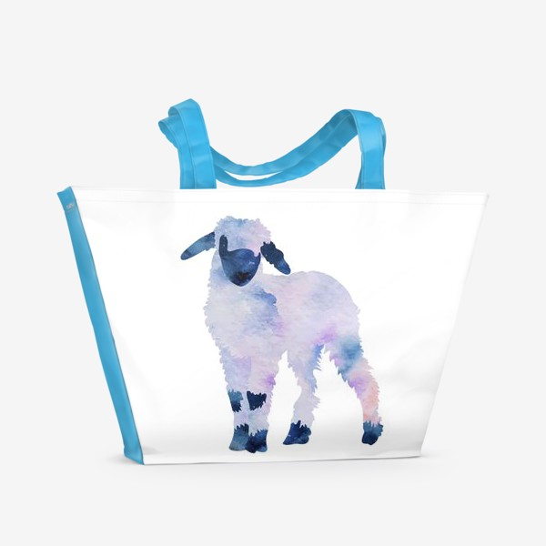 Пляжная сумка «Космический барашек»