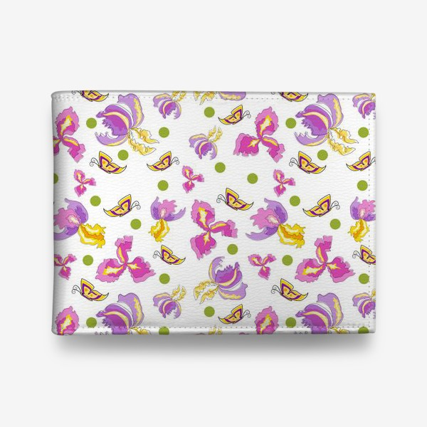 Кошелек «Seamless pattern pink purple iris, no background.»