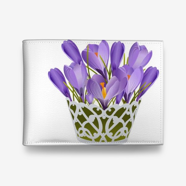 Кошелек «Basket of lilac crocuses.»