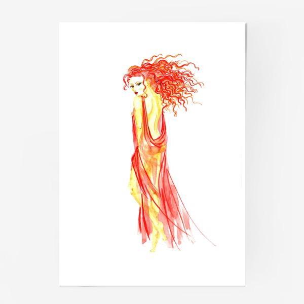 Постер «Рыжая девушка»