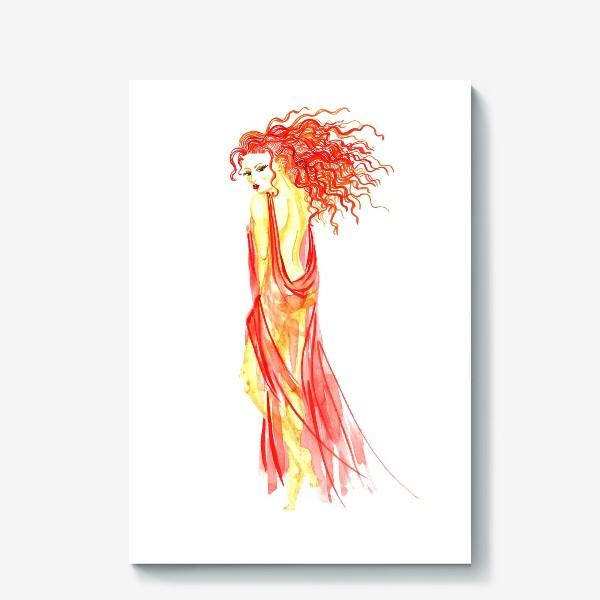 Холст «Рыжая девушка»