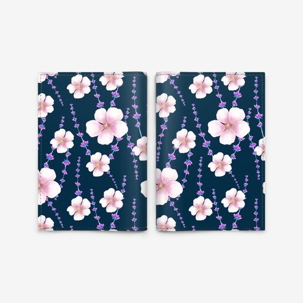 Обложка для паспорта «цветы»