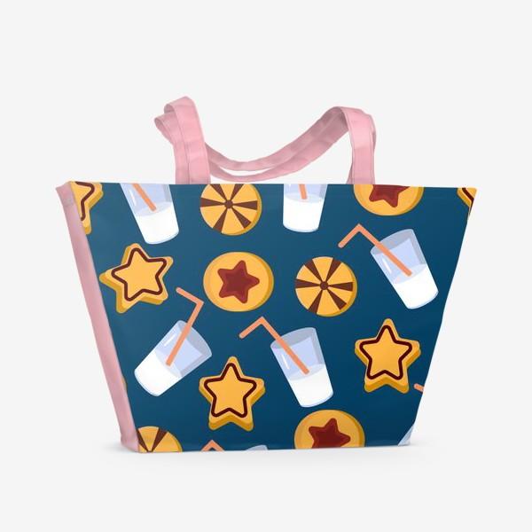 Пляжная сумка «Печенье с молоком»