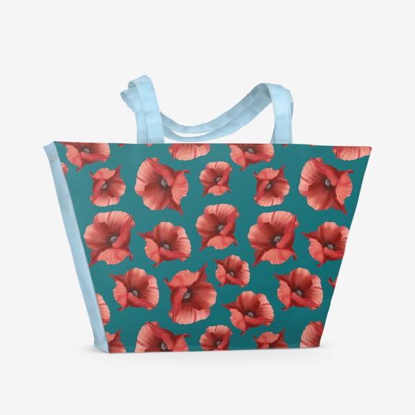Пляжная сумка «красные маки »