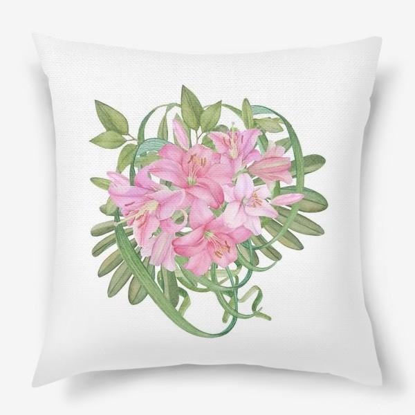 Подушка «Букет лилий»