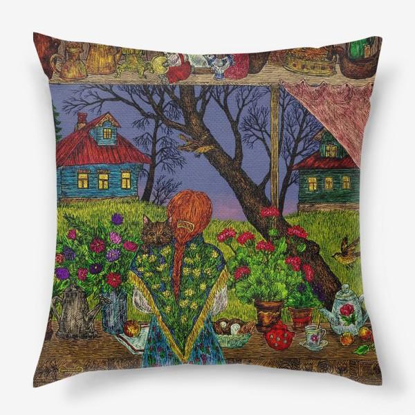 Подушка «Сумерки в деревне»
