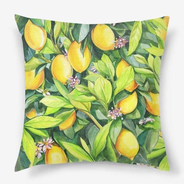 Подушка «Лимоны»