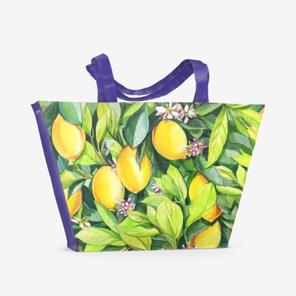 Пляжная сумка «Лимоны»