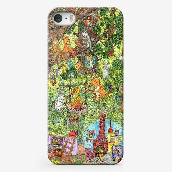 Чехол iPhone «Лес чудес лето»